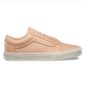veggie tan leather old skool DX vans